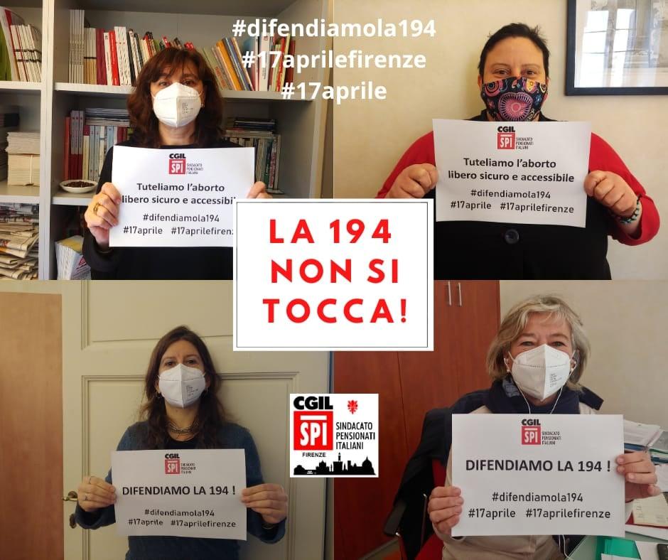 Le donne SPI Firenze a difesa della 194