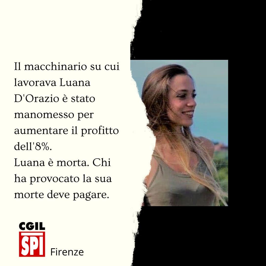 Chiuse le indagini, tre indagati per la morte di Luana D'Orazio